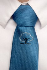 academy blue clip on tie