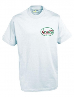 cherry dale primary white pe t-shirt