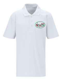 cherry dale primary white polo
