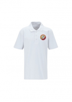 darton primary white polo