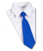 the hill royal blue clip on tie