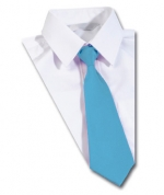 the hill sky blue clip on tie
