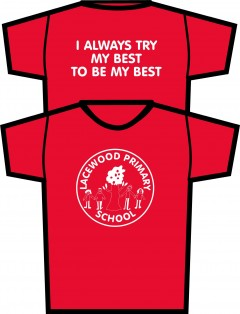 lacewood red pe t-shirt