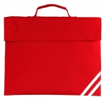 plain red book bag