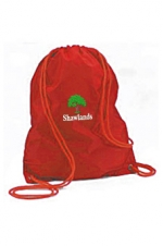shawlands red pe bag
