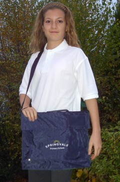 springvale navy bag with strap