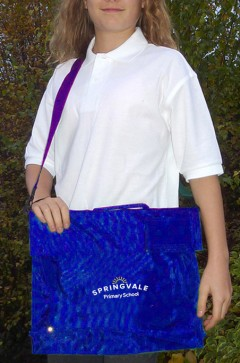 springvale royal book bag with strap