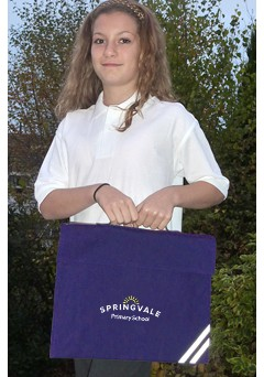 springvale navy book bag