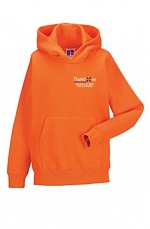 thurlstone orange hooded sweatshirt